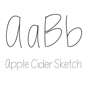 apple cider sketch