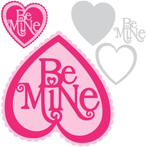 'be mine' heart set