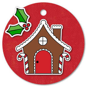 easy print + cut tag gingerbread house