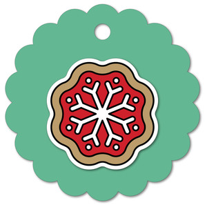 easy print + cut tag snowflake cookie