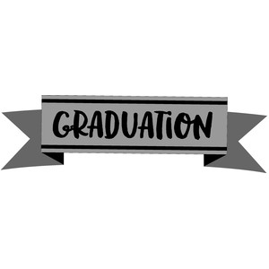 graduation banner - hats off!
