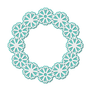 layered flowers wreath frame