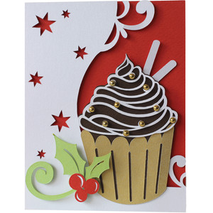 christmas cupcake layer card