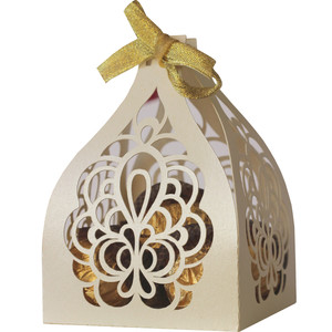 abstract filigree favor box