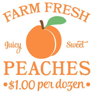 farm fresh peach sign