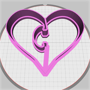 jigsaw heart dough cutter
