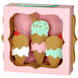 ice cream cone gift card box