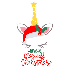 have a magical christmas unicorn