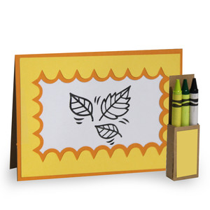 4 in. x 5.5 in. autumn coloring card and crayon box