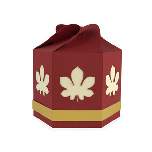 fall leaf hexagon box