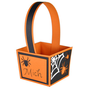 halloween spider treat basket