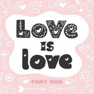love is love font duo