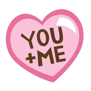 you plus me valentine heart