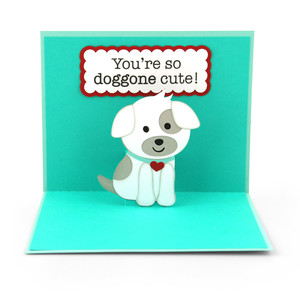 pop up card valentine dog