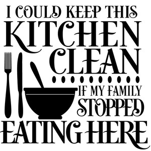 kitchen clean sign