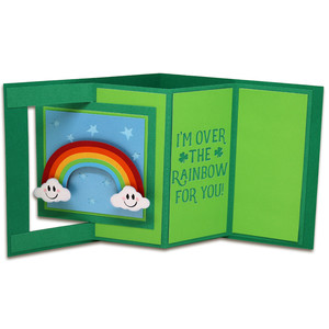 rainbow window lever card