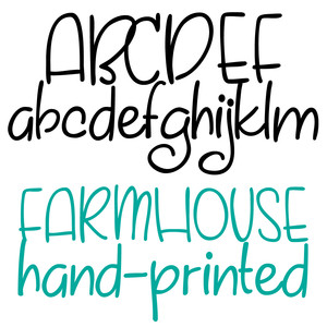 pn farmhouse hand-printed