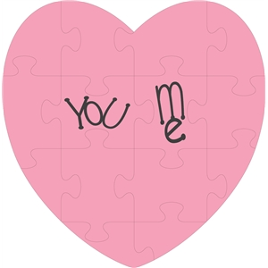 you, me heart jigsaw puzzle