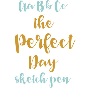 the perfect day sketch pen script font