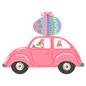 beetle car with easter egg