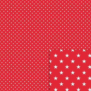 red and white stars background paper