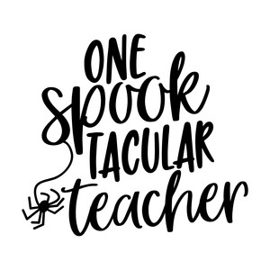 one spooktacular teacher