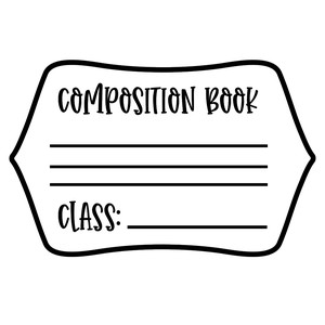 composition notebook label