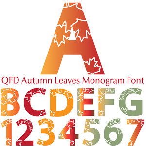 qfd autumn leaves monogram font