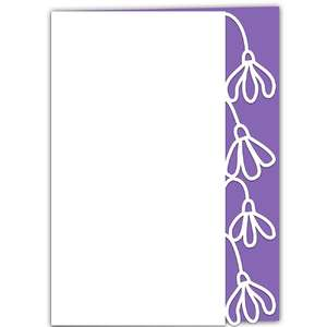 snowdrops lace edged card