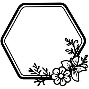 floral bee hive frame