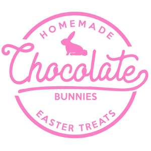 chocolate bunny label & tag
