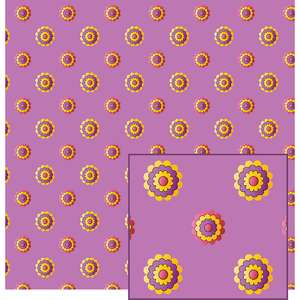 flowers on lavender pattern