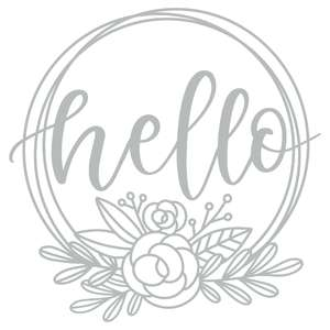 hello flower wreath