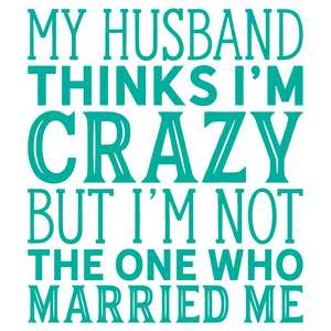 my husband thinks i'm crazy