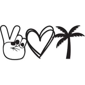 peace, love, beach