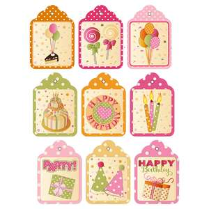 birthday gift tags (free with purchase)