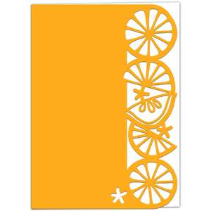 lemon lace edged card