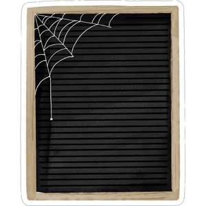 spider web letterboard