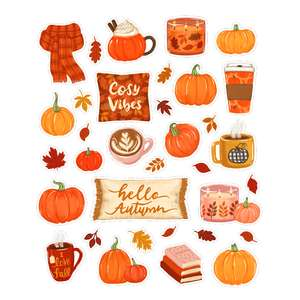 cozy autumn planner stickers