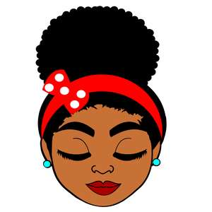 afro teenager girl