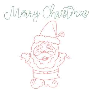 merry christmas happy santa sketch