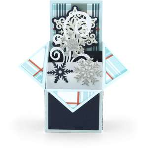tiered box card snowflake