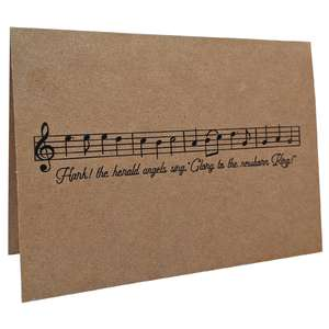 hark the herald angels sing music card