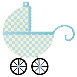 it's a boy banner piece - blue carriage