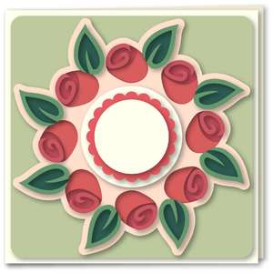 rose buds wreath card