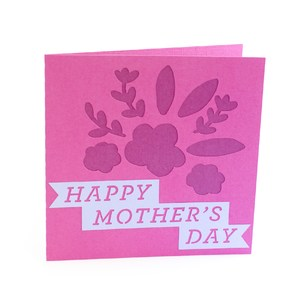 happy mothers day cut out card