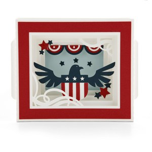 shadow box card patriotic