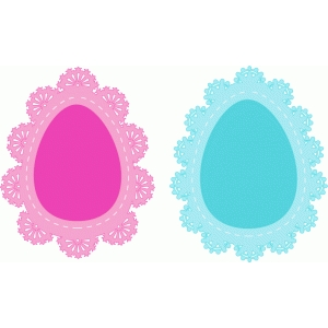 easter egg doilies