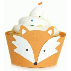 fox cupcake wrapper