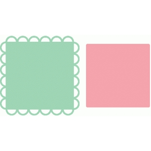 scallop square nesting shapes / labels